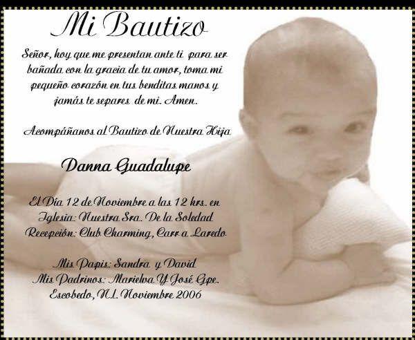 Frases Para Invitaciones De Bautizo | dOtime | Recetas para ...