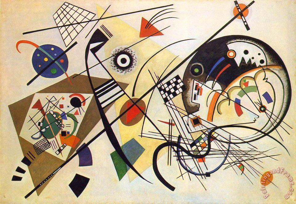 Linea trasversale, Vasilij Vasil'evič Kandinskij, 1923, olio su tela, Kunstsammlung Nordrhein-Westfalen