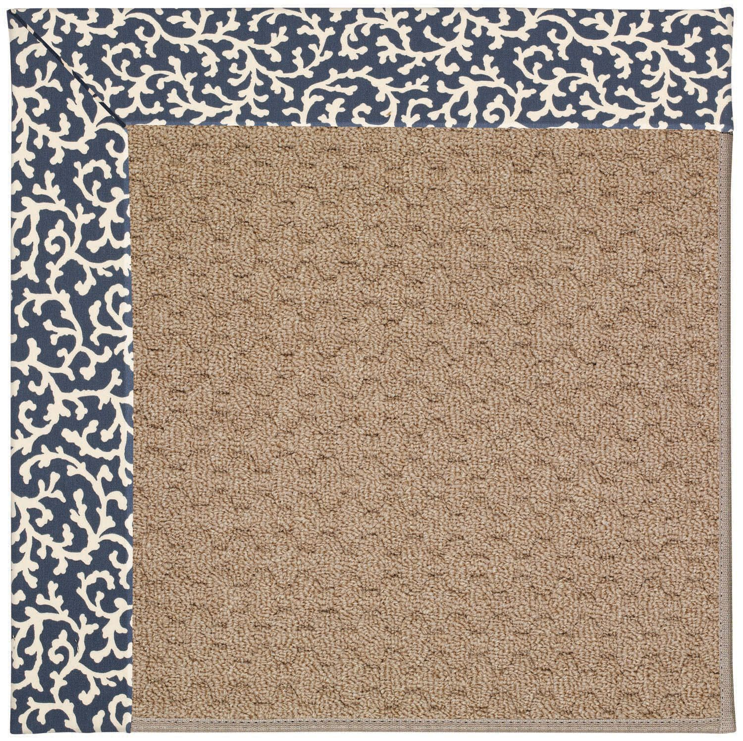 Zoe Grassy Mountain Machine Tufted Midnight/Brown Area Rug