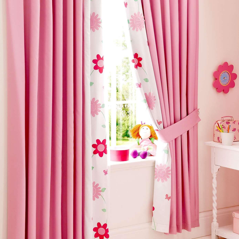 Kids Cerise Flower Garden Blackout Pencil Pleat Curtains | Dunelm ...