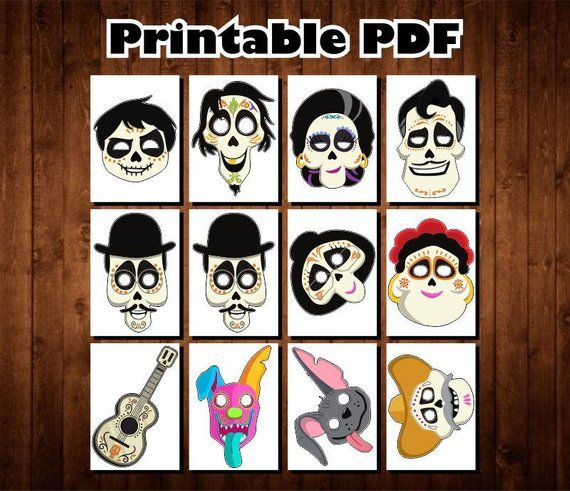 Disney Coco Photo Booth Props Instant Download Day Of The Dead