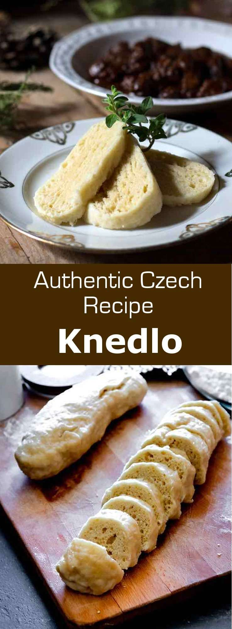 Knedliky are simple boiled dumplings from the Czech Republic, that are served on the side of many traditional dishes, including goulash. #CzechRepublic #CzechCuisine #CzechRecipe #CzechBread #CzechDumpling #WorldCuisine #196flavors #czechrecipes