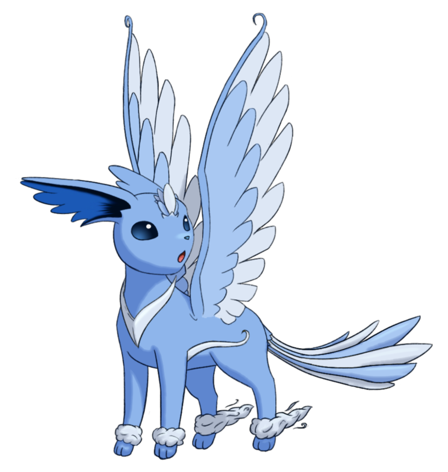 eevee type of evolution flying dragon type maybe pokemon fakemon
