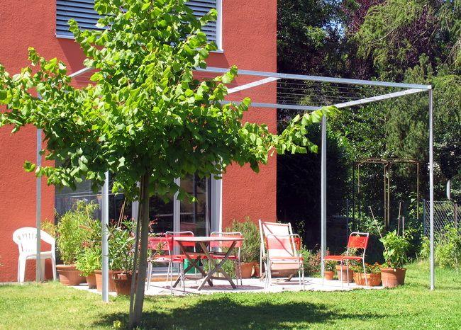 pergola rankhilfe verzinkt 02 Terrasse 2017 Pinterest - hangematten fur terrasse garten sommerliches flair