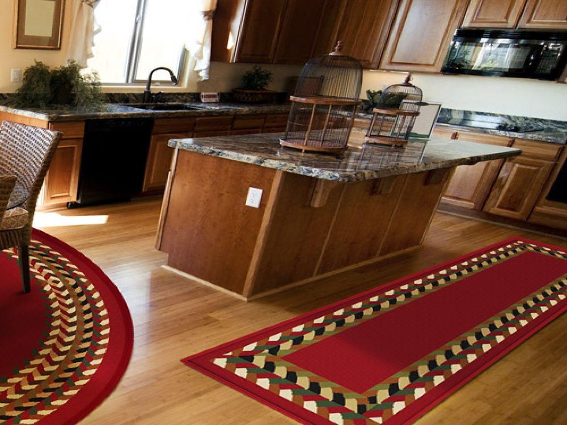 Red Kitchen Runner Rugs Set
