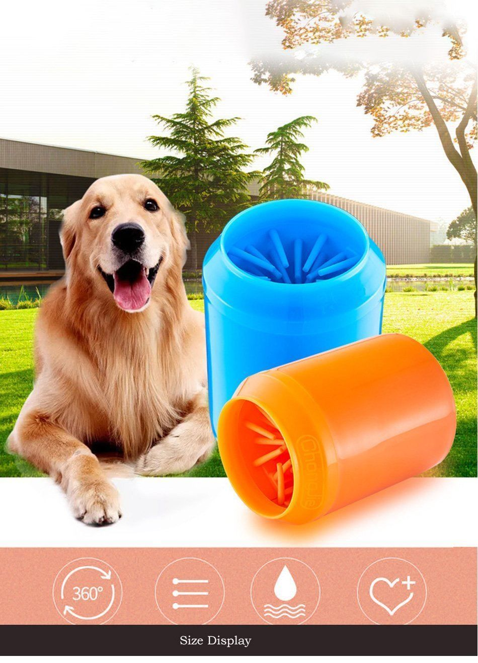 Portable Dog Paw Cleaner With Foot Cleaning Brush Pet Paws Dog
