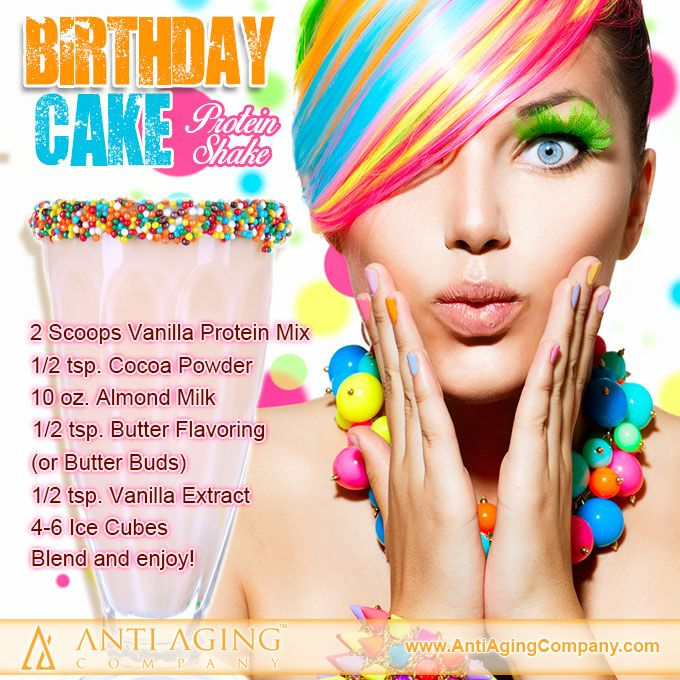 Birthday Cake Protein Shake Recipe Protein Shakes Birthday