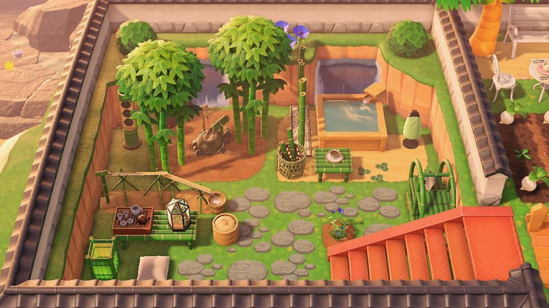 Animal Crossing New Horizons Bamboo Garden Ideas