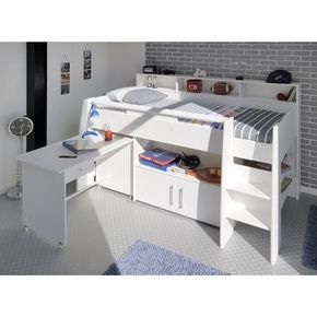 lit enfant combin blanc meg ve maison pinterest bed mid sleeper and bedroom. Black Bedroom Furniture Sets. Home Design Ideas