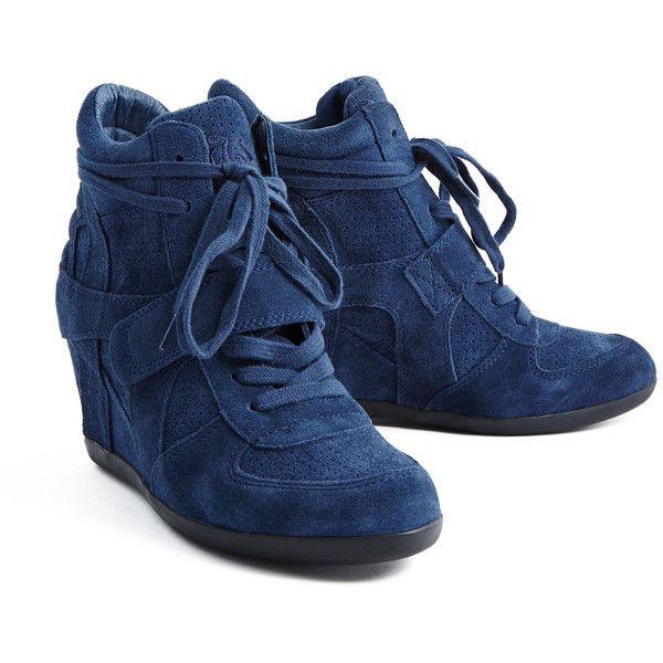 Ash Bowie Navy Wedge Sneaker ($220