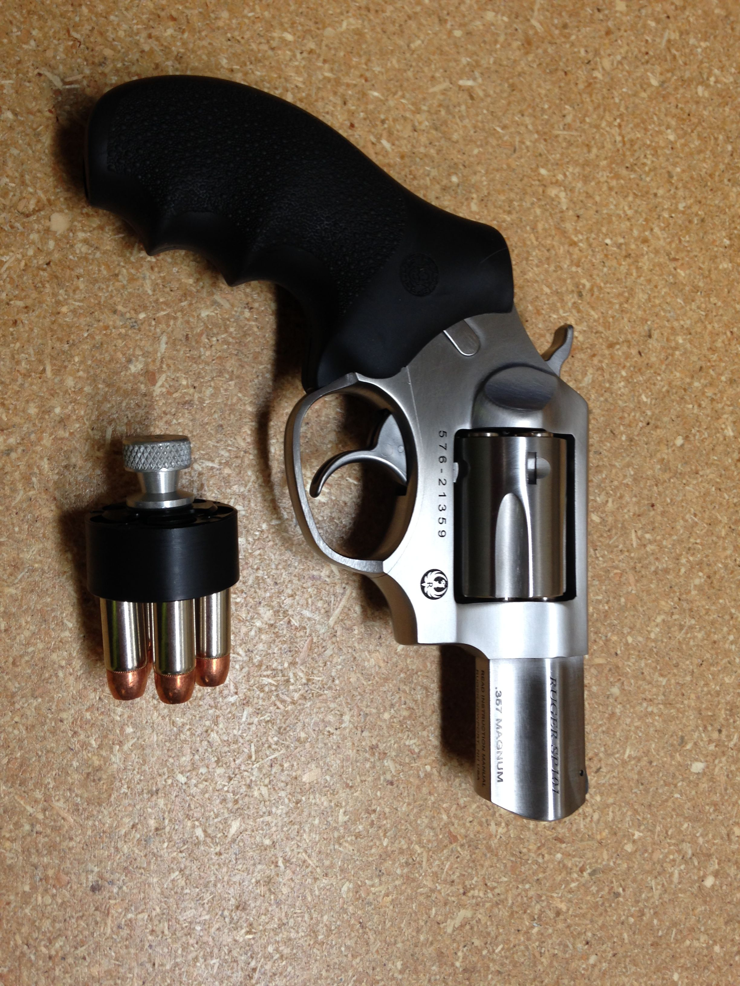 My latest investment   Ruger SP 101 in  357 Magnum   plus Hogue
