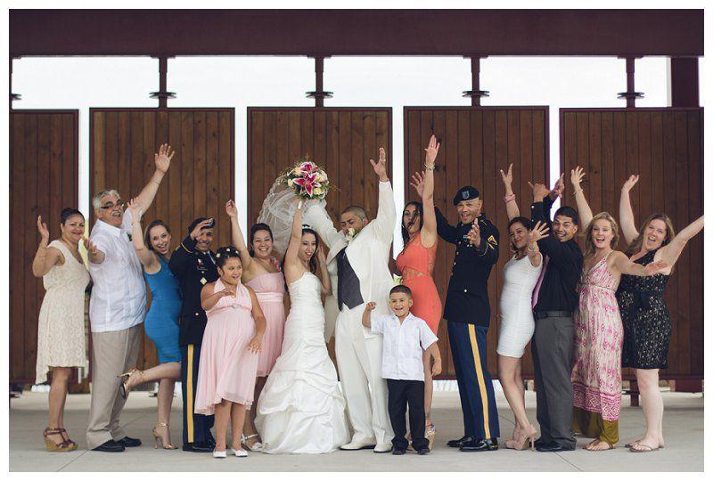 Family/bridal party photo! Just gettin crazy. iamjohnwhite wedding photography