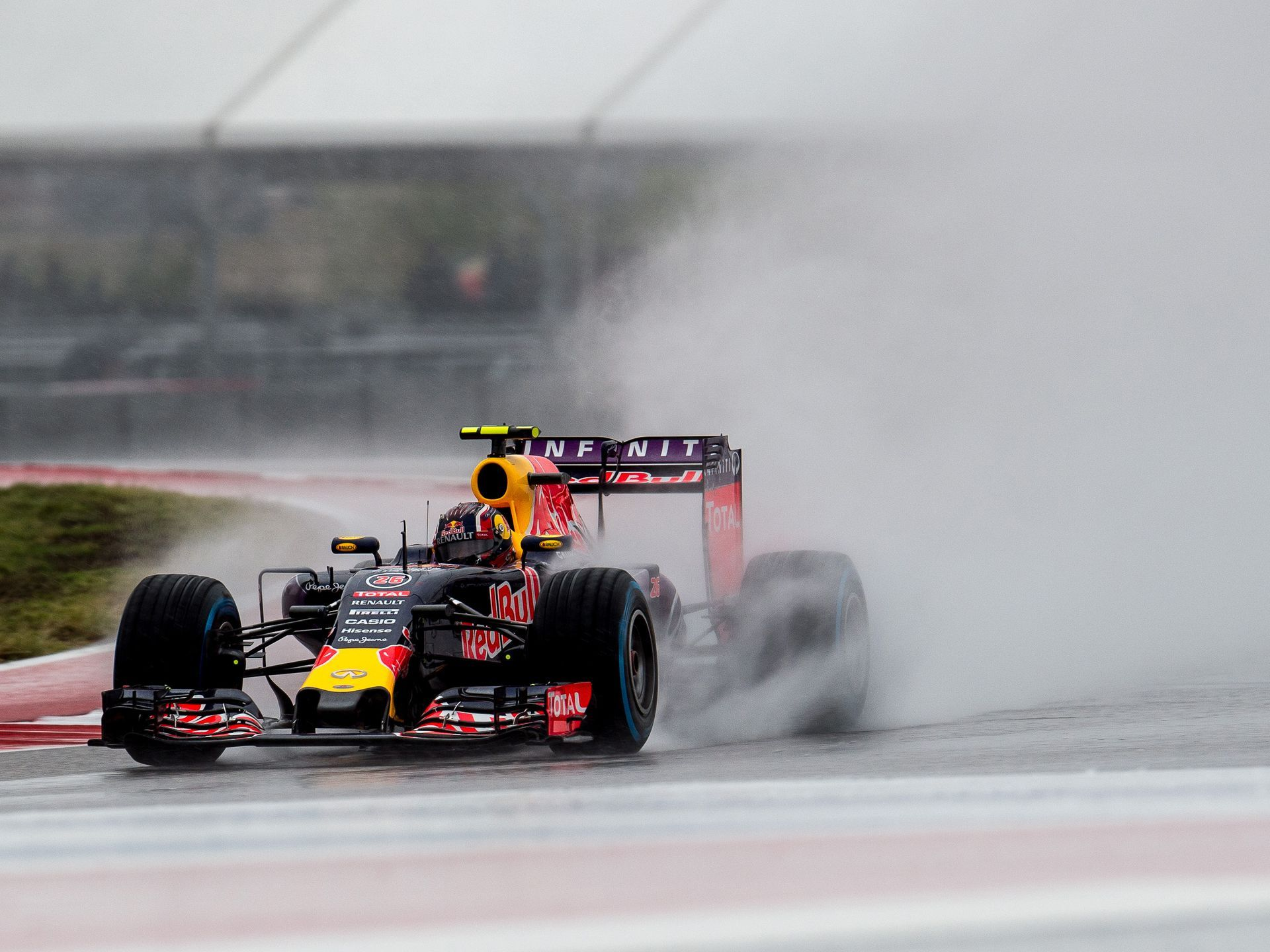 Red Bull Racing driver Daniil Kvyat of Russia races during qualifying for the United States Grand Prix at the Circuit of the Americas in Austin, Texas.  Jerome Miron, USA TODAY Sports