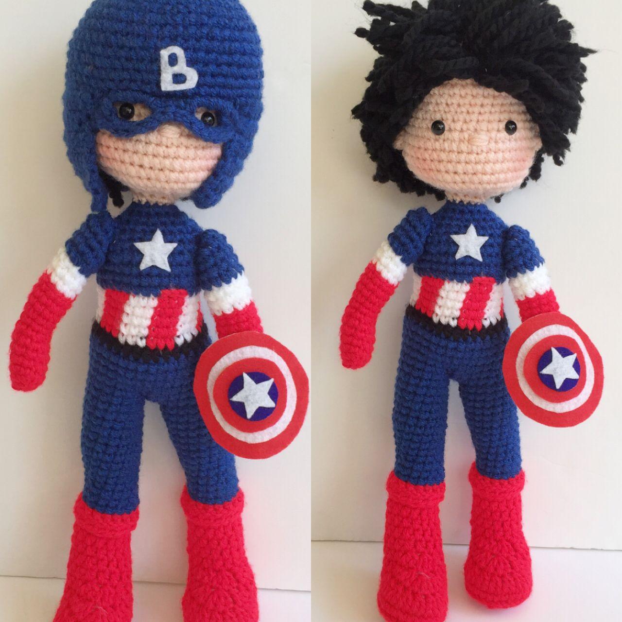 Captain America crochet doll   Nathaliesweetstitches ...