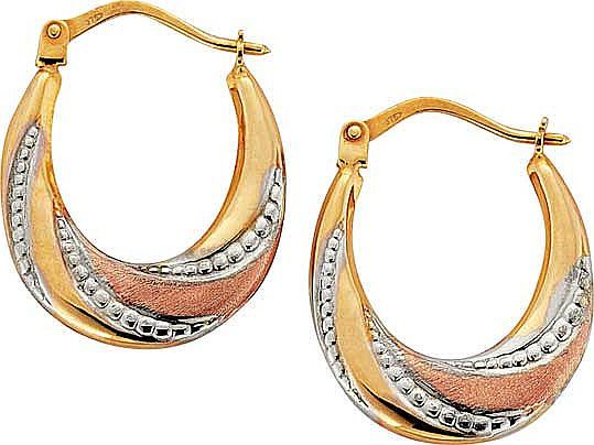Gold creole earrings argos
