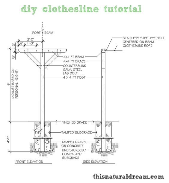 How To Build A Clothesline Diy Clothesline Tutorial  Farm Laundry  Pinterest  Energy Bill