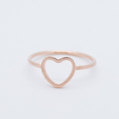 Open heart ring jewelry rings & pins Pinterest