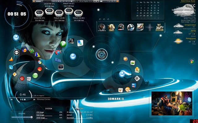 Windows 7 Themes Free Download Cafe Free Download Top 5 Inspiring Windows 7 Themes For Hackers Desktop Themes Tron Legacy Theme