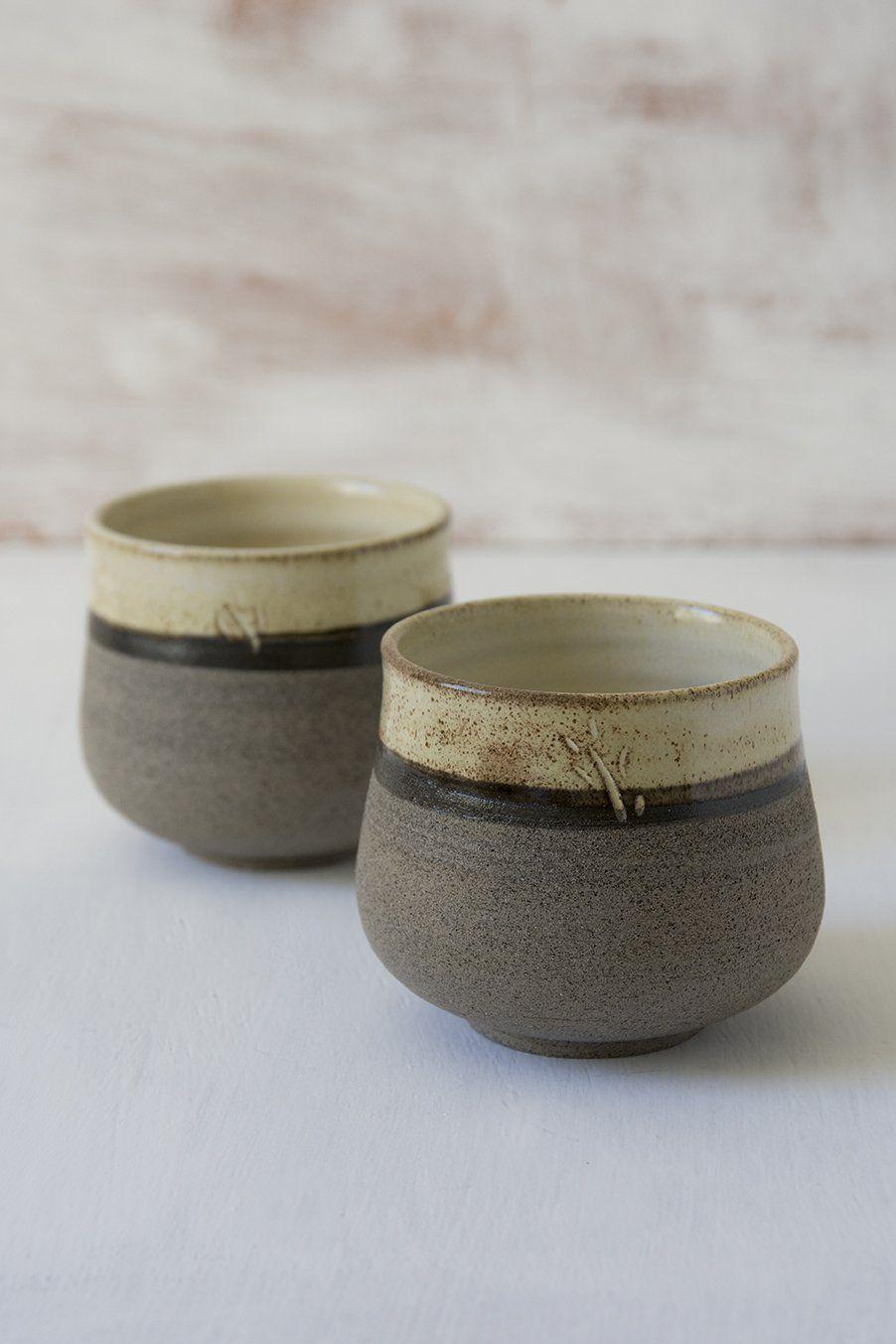 Yellow Ceramic Mugs Without Handles #ceramicmugs