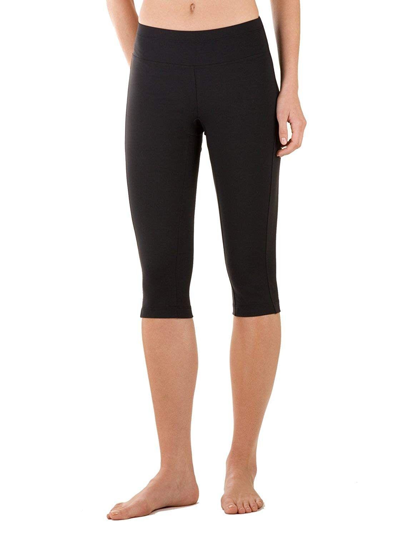 Knee Length Capri - Black - CD1151F6H3Z - Sports & Fitness Clothing, Women, Pants  #Pants #Sports #&...