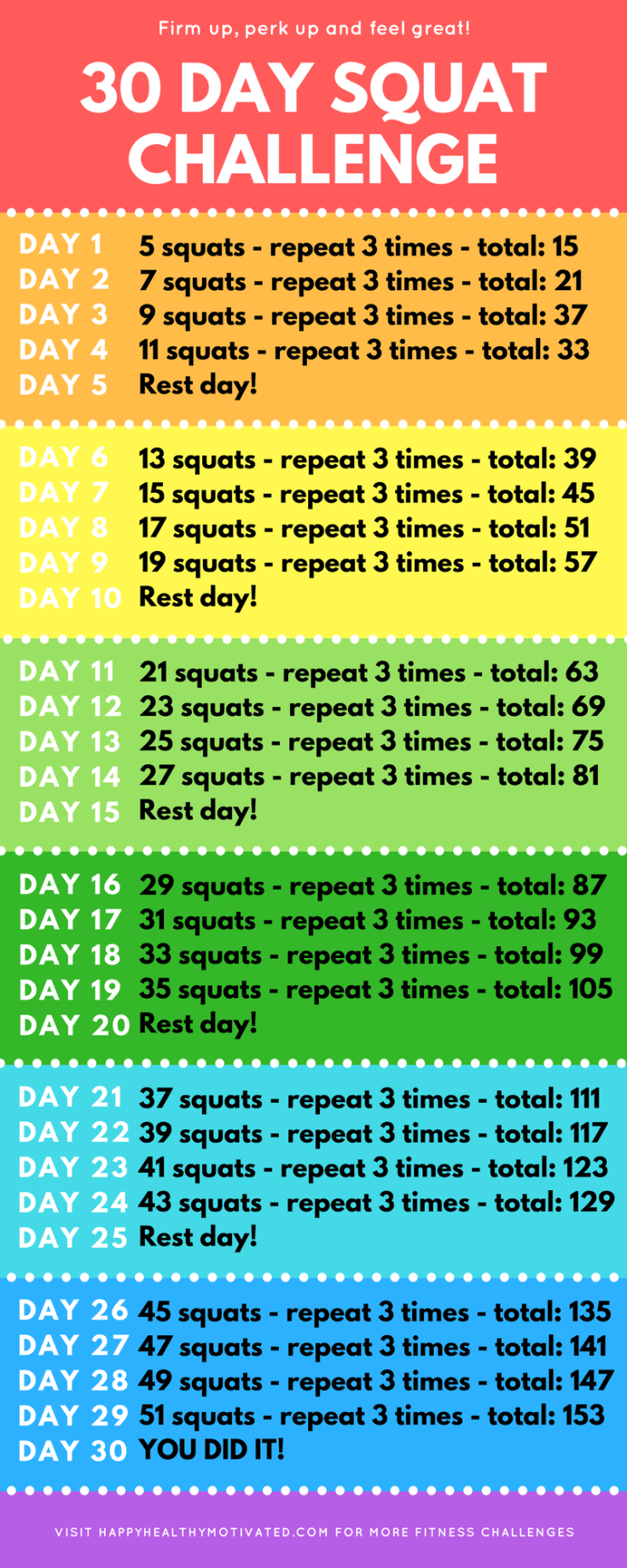 30 Day Squat Challenge [It's Perfect for Beginners!]