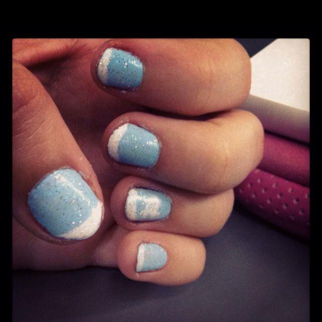 Attempted Nc tarheels nails | makeup styles | Pinterest | Makeup