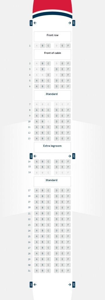 Boeing 787 Dreamliner Seating Plan