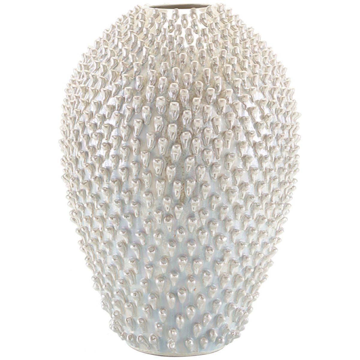 John richard white iridescent spiny vase shop now on pinterest