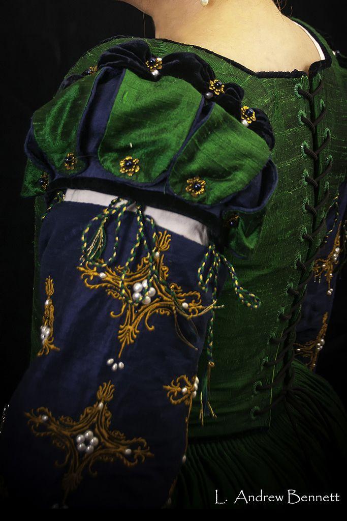 Color Inspiration- Elizabethan Court Gown - by Designs From Time. #Renaissance #Tudor #Renaissance