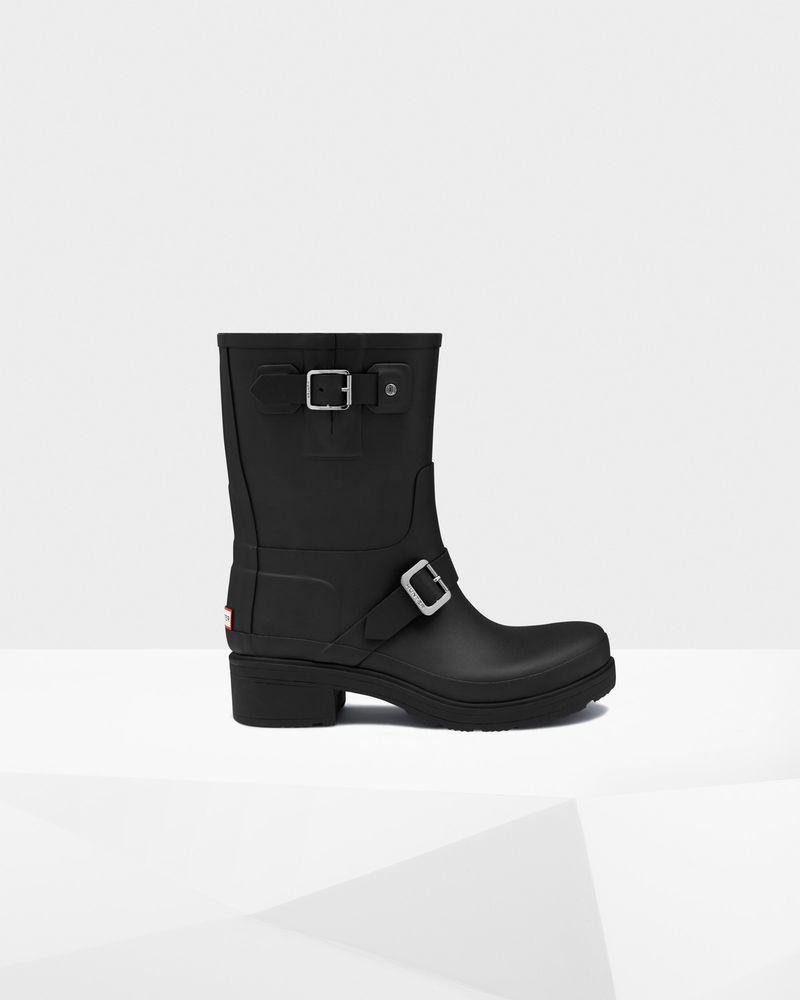 1bdfddb12bdd NEW Hunter Boot Original Rubber Biker Boot Black Size Women 10 UK 8  190   fashion  clothing  shoes  accessories  womensshoes  boots  ad (ebay link)