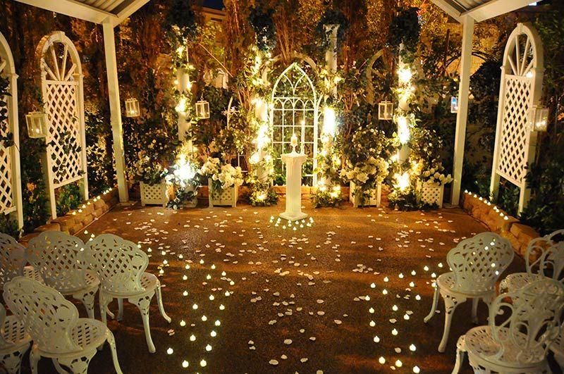 Viva Las Vegas Weddings Chapels Twilight Garden Wedding Package