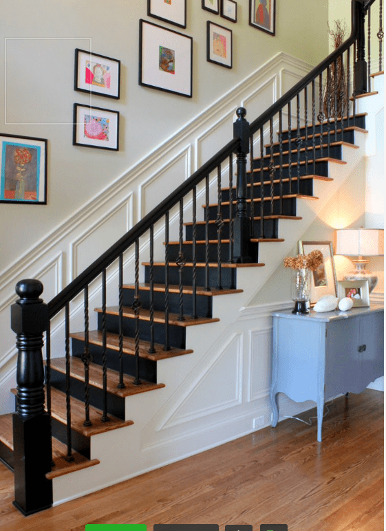 painted staircases black vs white paint colors stairs painted rh pinterest com