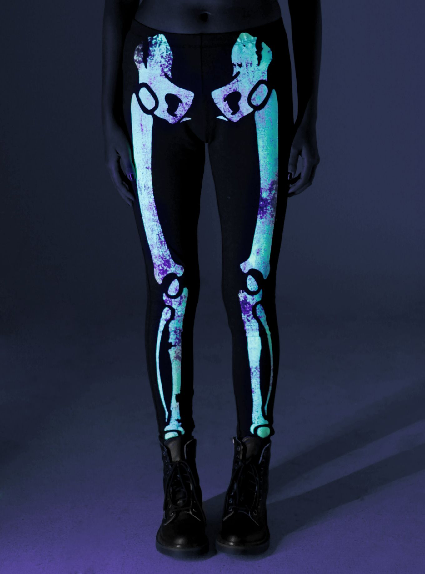 b7074c3c46c Skeleton Glow-In-The-Dark Leggings