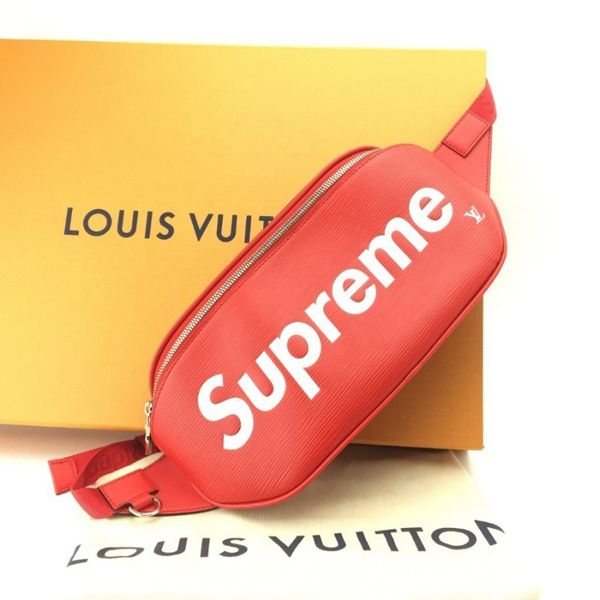 """076af9671f3c CREPSLOCKER™ on Instagram: """"N E W • A R R I V A L LOUIS VUITTON ❌ SUPREME  BUMBAG Remember we ship worldwide 🌍 using express shipping! (hit link… 