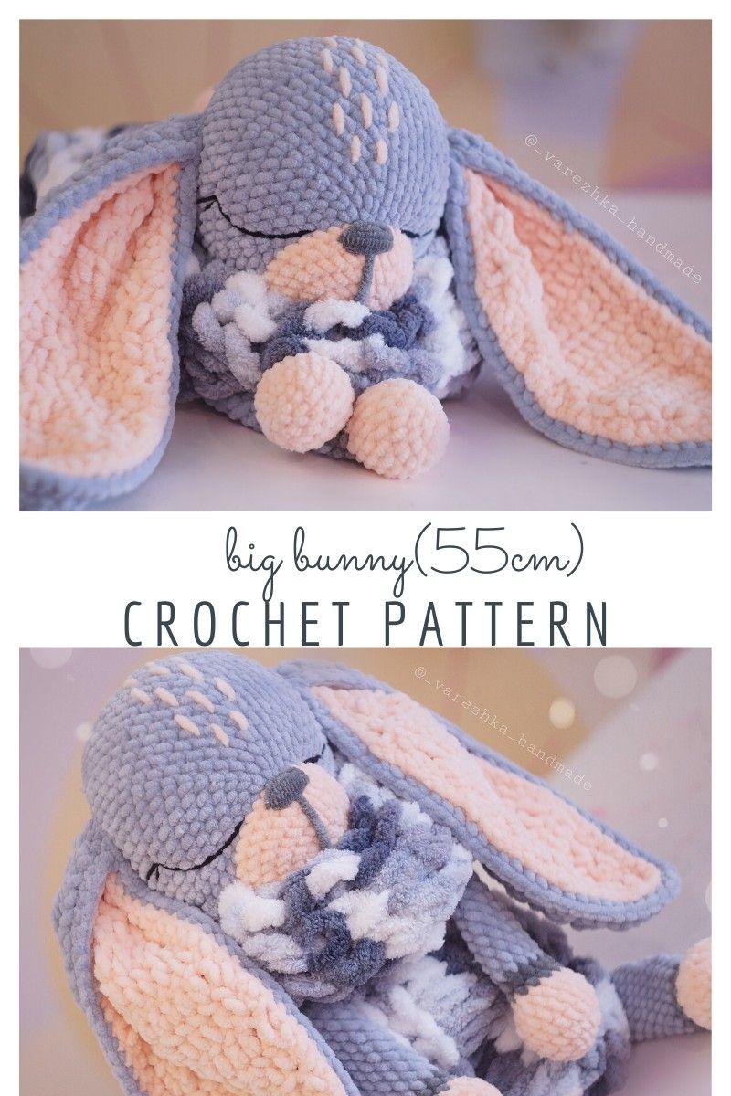 Crochet bunny pattern PDF #amigurumitutorial