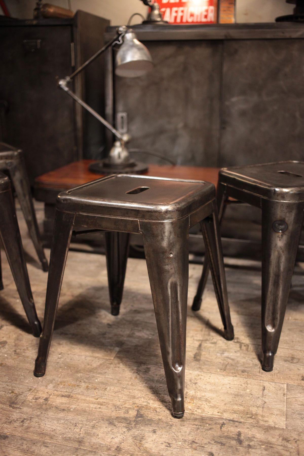 tabouret ancien tolix industrial chic pinterest industrial industrial chic and industrial. Black Bedroom Furniture Sets. Home Design Ideas