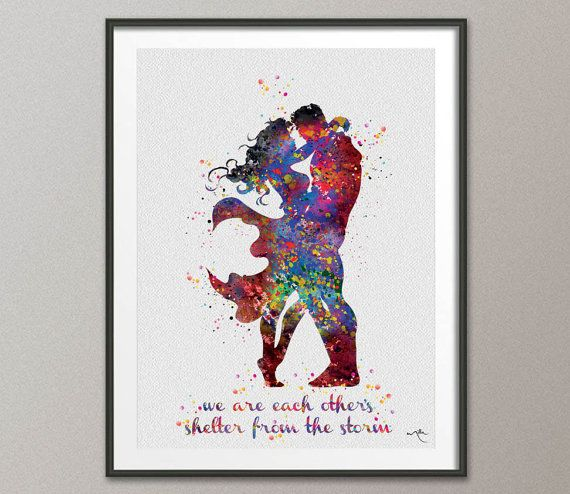Quotes From Wonder Woman Movie: Superman And Wonder Woman Love Quote Watercolor By