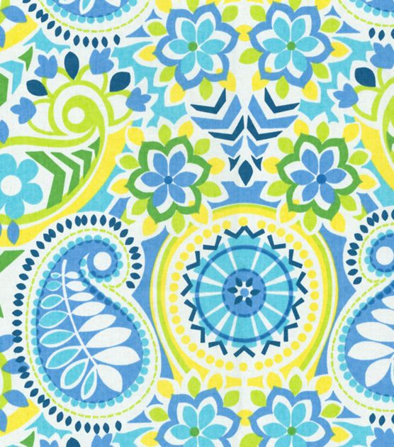 Waverly Home Decor Print Fabric Paisley Prism Bluebell