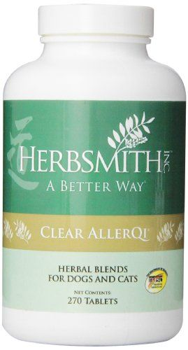Herbsmith  270Tablet Clear AllerQi Herbal Supplement for Dogs and Cats ** More info could be found at the affiliate link Amazon.com on image.