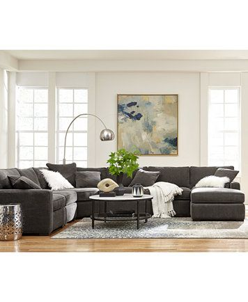 Radley Fabric Sectional Sofa Living Room Furniture Collection | Macys.com.  Couch For Living