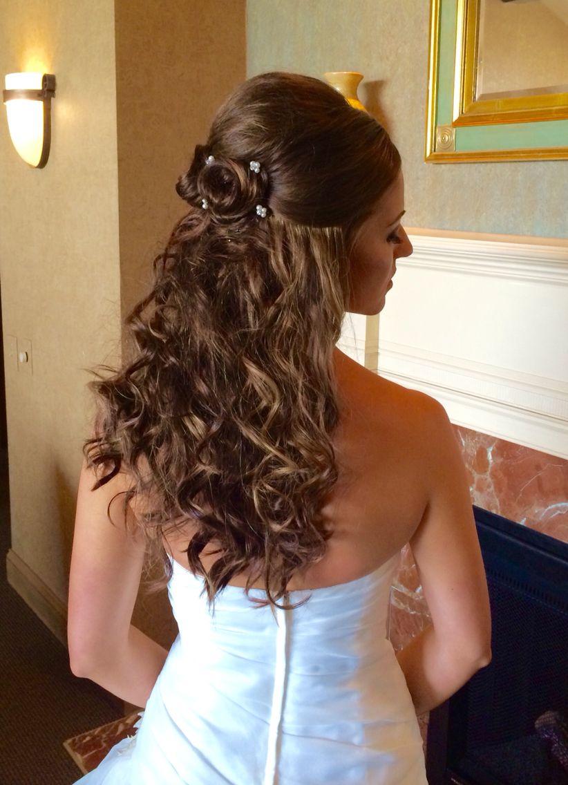 Half Up Flowering Knots Wedding Bridalhair Hairbyhelenv Talus