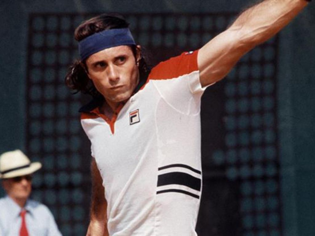 Guillermo Vilas ARG b 17 08 1952 1 80m Ranked 2nd in