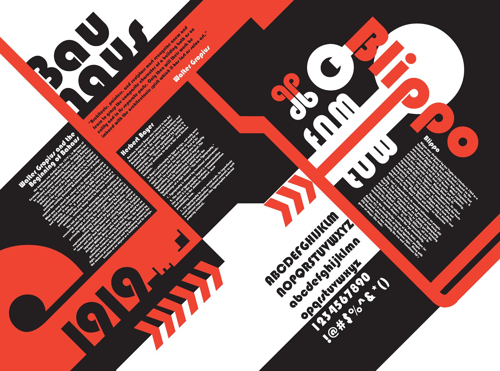 tipografa sans serif desde en la bauhaus
