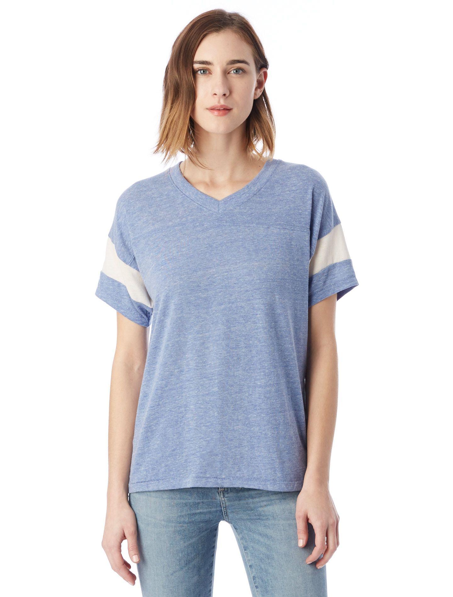 741c98381a4 Alternative Apparel: 01988E1: Women: Powder Puff Eco-Jersey T-Shirt: Eco  True Blue Fog #1