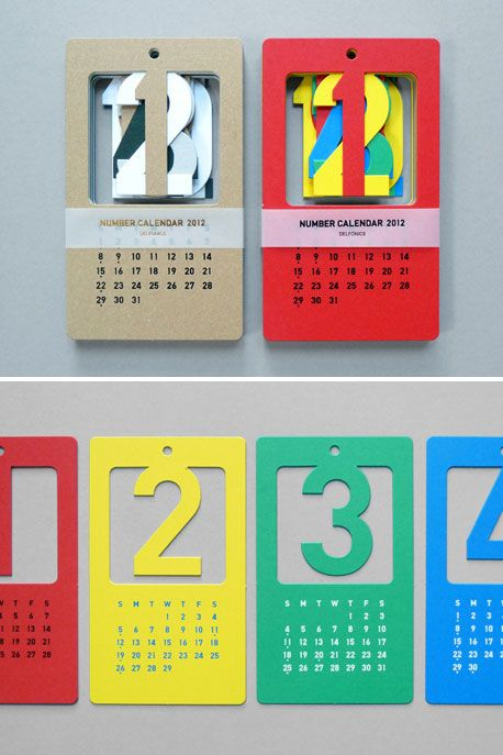A unique wall calendar design from present correct