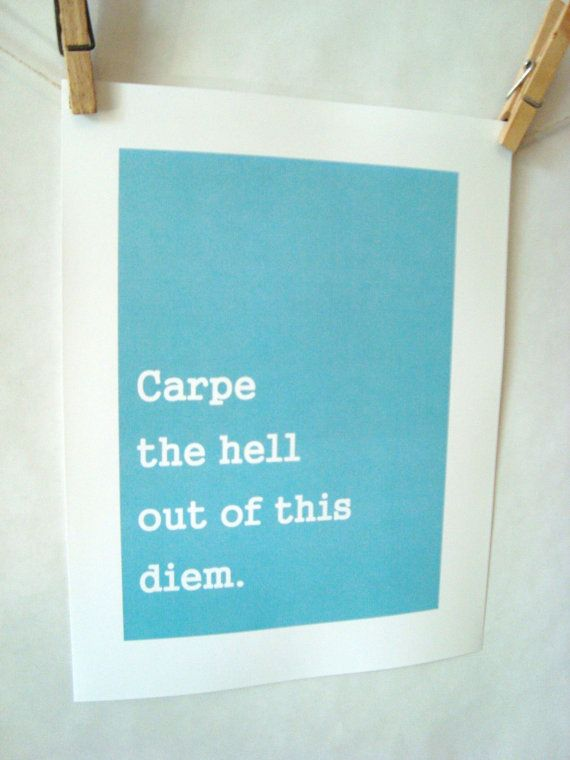carpe diem the way @Whitney Kirn would see it
