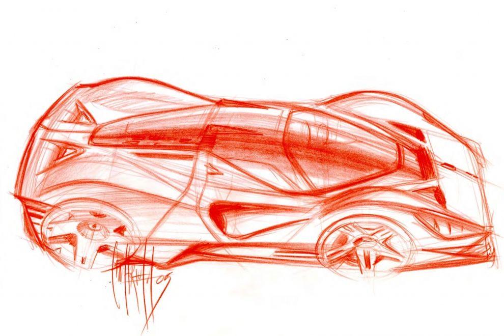 Pininfarina Ferrari P4-5 sketch