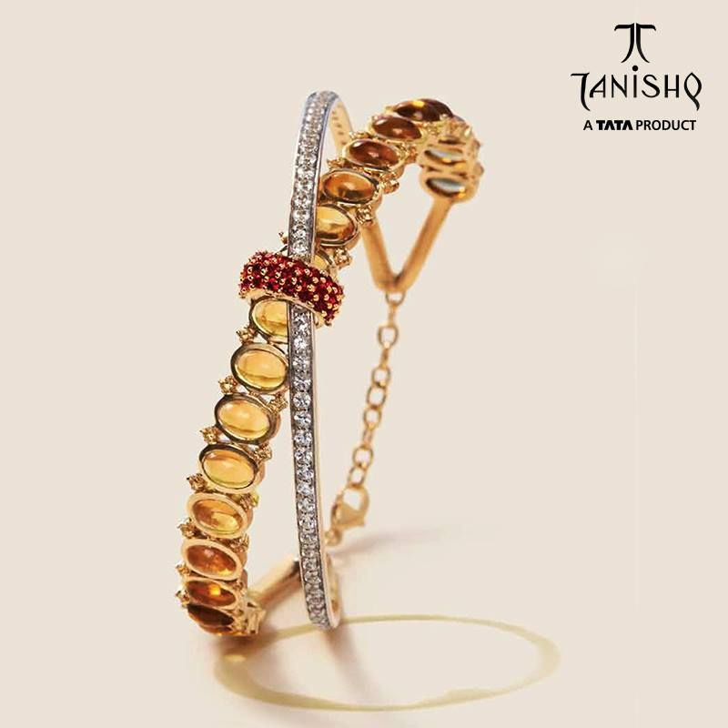 d2e94cab9 Gold Designer Bracelets from Tanishq, Tanishq Gold Bracelet Designs.