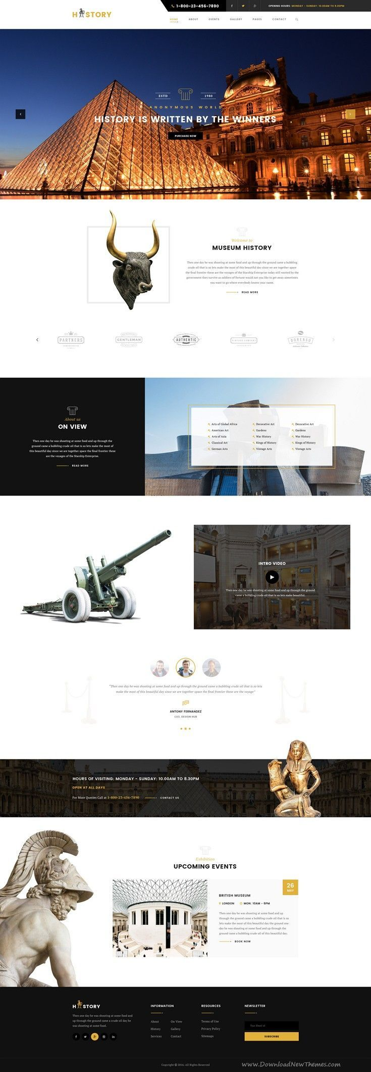 History  Museum PSD Template Gallery