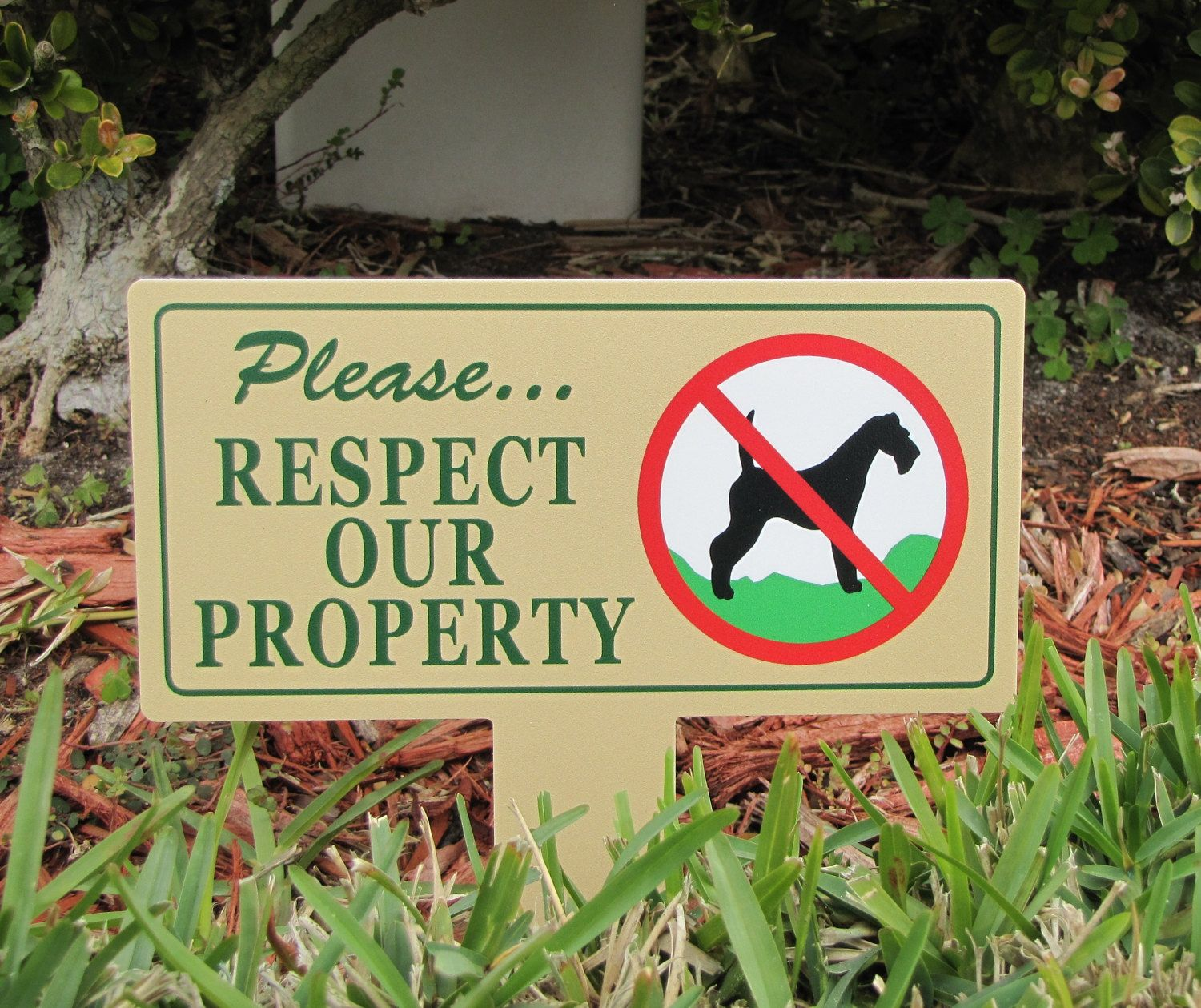 Respect Property Signs Dog Poop Stake